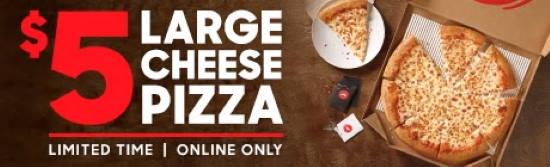 $5 large Pizza